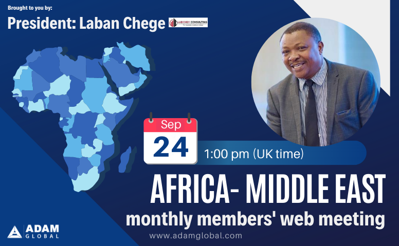 September: Africa-Middle East Members' Monthly Web Meeting