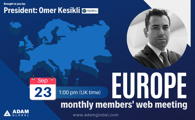 September: Europe Members' Monthly Web Meeting