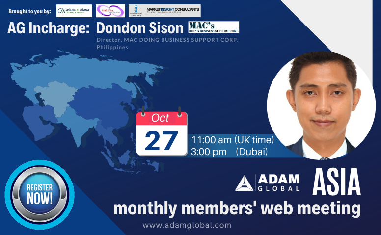 AG Asia monthly members meeting: Oct 2020