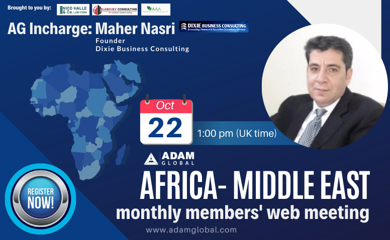Africa Middle-East Members Web Meeting: October 2020