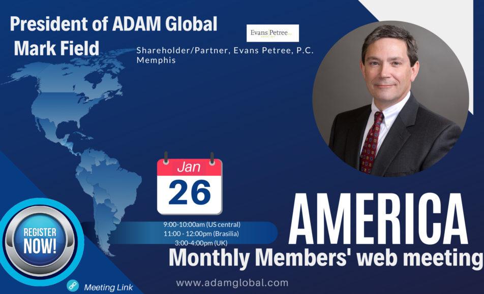 AMERICA Monthly Members' web meeting – Jan 2021